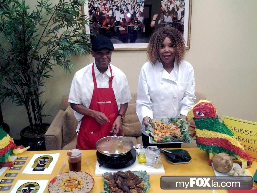 Brandiva And Sir Jerks Caribbean Soul Food Catering on My Fox LA