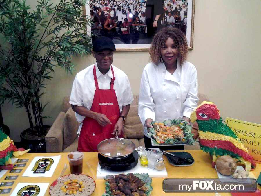 Brandiva And Sir Jerks Caribbean Soul Food Catering on My Fox LA